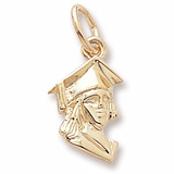 10K Gold Female Graduate Accent Charm by Rembrandt Charms