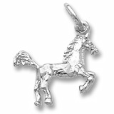 14K White Gold Horse Charm by Rembrandt Charms
