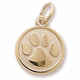 Gold Plated Paw Print Charm by Rembrandt Charms