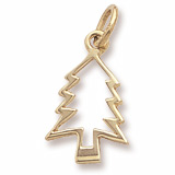 10K Gold Christmas Tree Charm by Rembrandt Charms