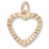 Gold Plated Heart Charm by Rembrandt Charms