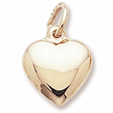 Gold Plate Heart Charm by Rembrandt Charms