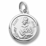 14K White Gold Saint Jude Charm by Rembrandt Charms