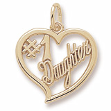 Gold Plated Number One Daughter Charm by Rembrandt Charms