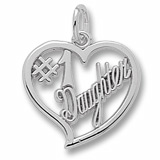 14K White Gold Number One Daughter Charm by Rembrandt Charms