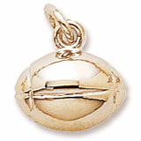 Gold Plated Rugby Ball Charm by Rembrandt Charms