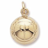 10K Gold Volleyball Charm by Rembrandt Charms