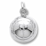 14K White Gold Volleyball Charm by Rembrandt Charms