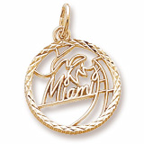 14K Gold Miami Faceted Charm by Rembrandt Charms