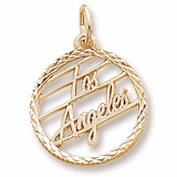 14K Gold Los Angeles Faceted Charm by Rembrandt Charms