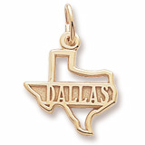 14k Gold Dallas Texas Charm by Rembrandt Charms