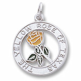 14K White Gold Yellow Rose of Texas by Rembrandt Charms