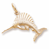 Gold Plate Sailfish Charm by Rembrandt Charms