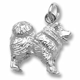 14K White Gold Chow Chow Charm by Rembrandt Charms