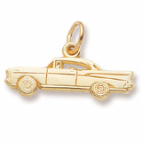 Gold Plated Hardtop Muscle Car Charm by Rembrandt Charms