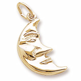 Gold Plated Moon Charm by Rembrandt Charms