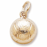 Gold Plated Tennis Ball Charm by Rembrandt Charms