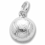 14K White Gold Tennis Ball Charm by Rembrandt Charms