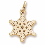 10K Gold Snowflake Charm by Rembrandt Charms