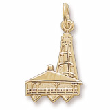 Gold Plated Sanibel Island, FL Lighthouse by Rembrandt Charms