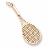 10k Gold Tennis Racquet Charm by Rembrandt Charms