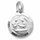 14k White Gold Baptism Charm by Rembrandt Charms