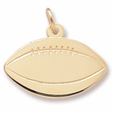 14k Gold Football Charm by Rembrandt Charms