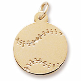 14K Gold Baseball Charm by Rembrandt Charms