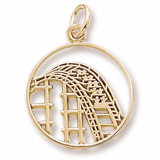 Gold Plate Roller Coaster Charm by Rembrandt Charms
