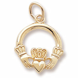 14k Gold Claddagh Charm by Rembrandt Charms