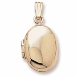 14K Gold Oval Locket Pendant by Rembrandt Charms