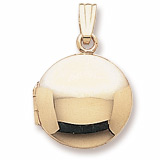 Gold Plate Circle Locket Pendant by Rembrandt Charms