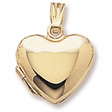 14K Gold Heart Locket Pendant by Rembrandt Charms