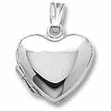Sterling Silver Heart Locket Pendant by Rembrandt Charms