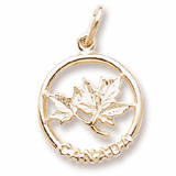 14K Gold Canada Maple Leaf Charm by Rembrandt Charms