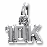 Sterling Silver 10K Race Accent Charm by Rembrandt Charms