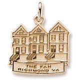 14K Gold The Fan Richmond, VA Charm by Rembrandt Charms