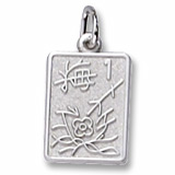 14K White Gold Mahjong Tile Charm by Rembrandt Charms