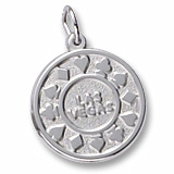 14K White Gold Las Vegas Disc Charm by Rembrandt Charms