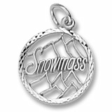 14K White Gold Snowmass Charm by Rembrandt Charms