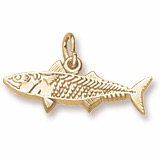 Gold Plated Mackerel Fish Charm by Rembrandt Charms