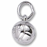 14K White Gold Volleyball Accent Charm by Rembrandt Charms