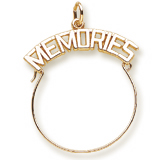 14k Gold Memories Charm Holder by Rembrandt Charms
