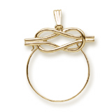 14K Gold Infinity Charm Holder by Rembrandt Charms