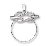 14K White Gold Infinity Charm Holder by Rembrandt Charms