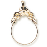 10k Gold Darling Daisies Charm Holder by Rembrandt Charms