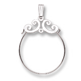 14K White Gold Carefree Charm Holder by Rembrandt Charms