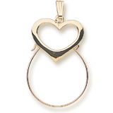 14K Gold Heart Charm Holder by Rembrandt Charms