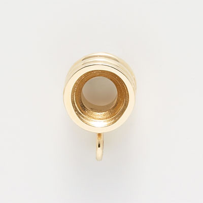 14K Gold Ribbed CharmDrop by Rembrandt Charms