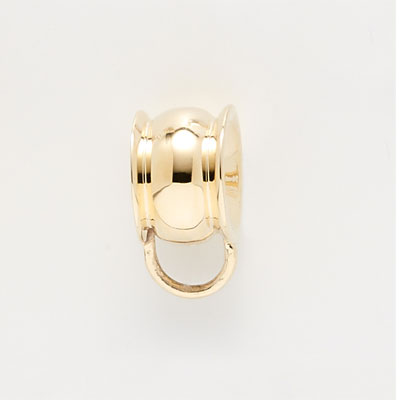 14K Gold Raised Edges CharmDrop by Rembrandt Charms